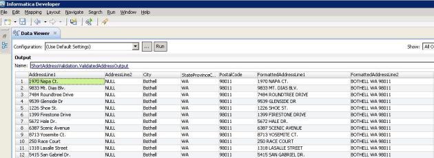 Formatted Address Sample